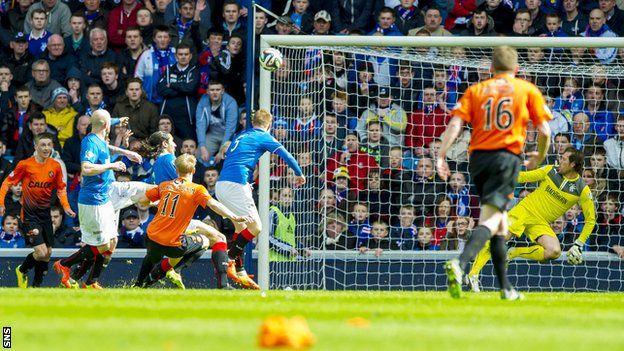 Dundee United secured a Scottish Cup final place with a 3-1 victory over Rangers that owed much to opportunism and good fortune.