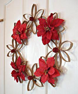 Toilet Paper Tubes Christmas Wreath