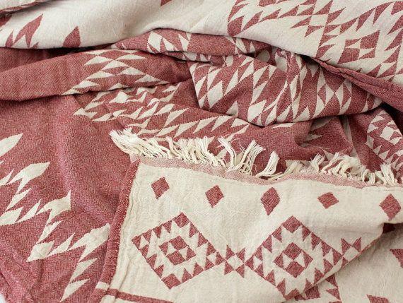 Südwestlichen Decke  Navajo Decke zu werfen  Aztec von onTheRainbow