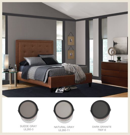 Behr suede gray natural gray dark granite color Shades of grey interior paint