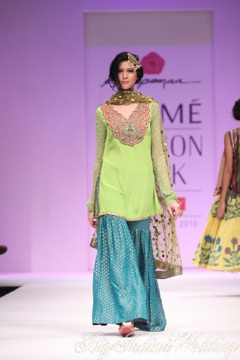 A sharara that would be perfect for attending a Muslim wedding
