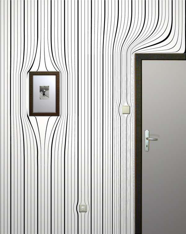 Optical Illusion Wallpaper - Warped Wall Coverings (GALLERY)