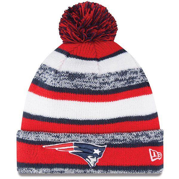 new style 56853 58029 ... order new era new england patriots red on field sport sideline cuffed  knit hat 0c48b 45fad