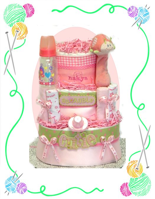 Lady Bug Rattle Diaper Cake