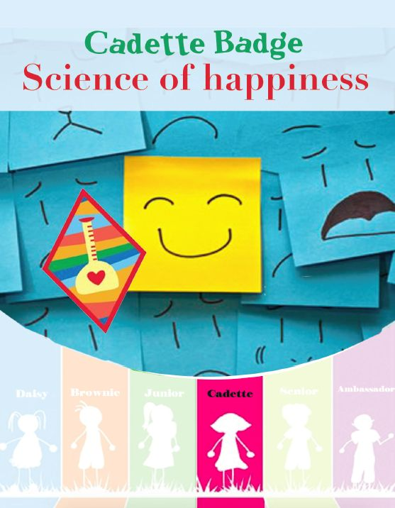 The science of Happiness badge it is all about measuring your own happiness and happiness of others. Your goal is to make your world a happier place. If you have a Cadette Girl Scout troop use this resource to earn the badge with your girls. It is easy to have the Girls run their own meeting with this booklet.