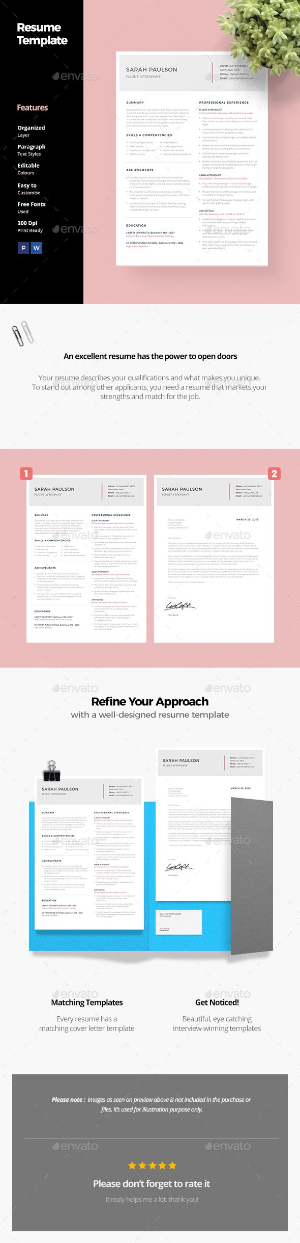 #Resume Template - #Resumes Stationery Download here: https://graphicriver.net/item/resume-template/19718169?ref=alena994