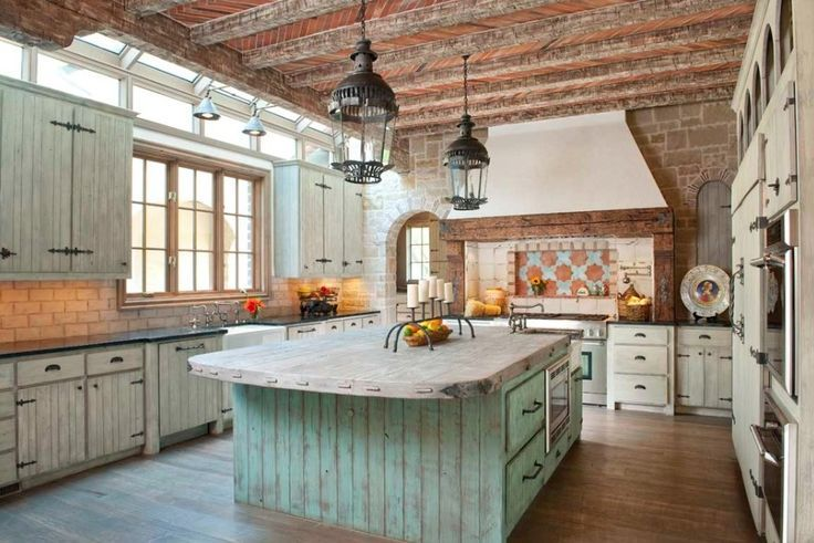 For the love of rustic cabin kitchens! WOW! I like how open and bright this looks.