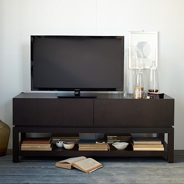 Parsons Media Large Console #WestElm   Could Be Great As A Low Credenza For  Printer And Supplies. | Blondin Manor | Pinterest | Consoles, Credenza And  ...