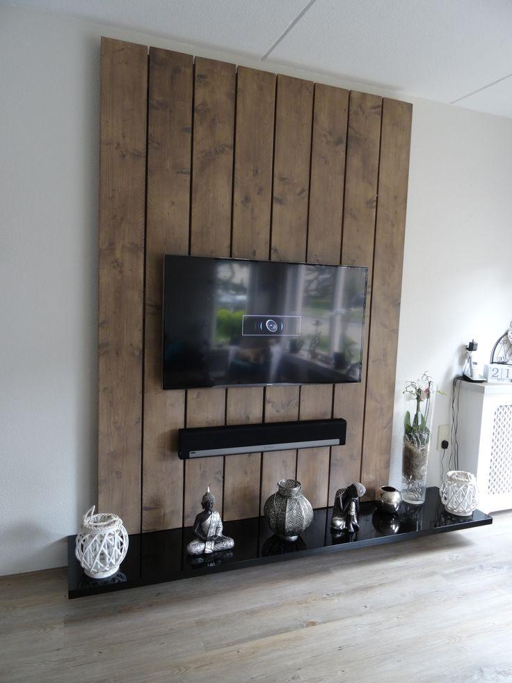 Meer dan 1000 idee n over tv kamer decoraties op pinterest woonkamermeubels tv ophangen en tv - Plank wandmeubel ...
