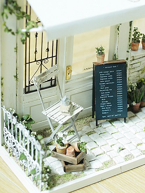 cafeめぐりをして、お気に入りをみつける!•• vida ~ muebles hechos a mano de color natural: miniatura * Naturel Cafe Exterior