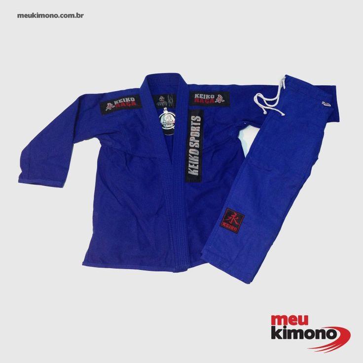 Marca: Keiko Indicado para iniciantes e praticantes intermediários de  JIU JITSU  por sua leveza, resistência e conforto.Trançado leve 430 g/m². NÃO ACOMPANHA FAIXA.    http://www.meukimono.com.br/jiu-jitsu/451-kimono-jiu-jitsu-azul-juvenil-pro-keiko-infantil.html