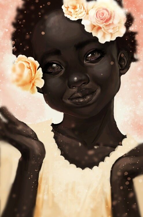 Beautiful Black Art Follow us for more awesome black art images pretty sure artist is http://fullten.tumblr.com