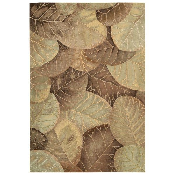 Nourison tropics rugs ts12 brown green buy online from the rug seller uk