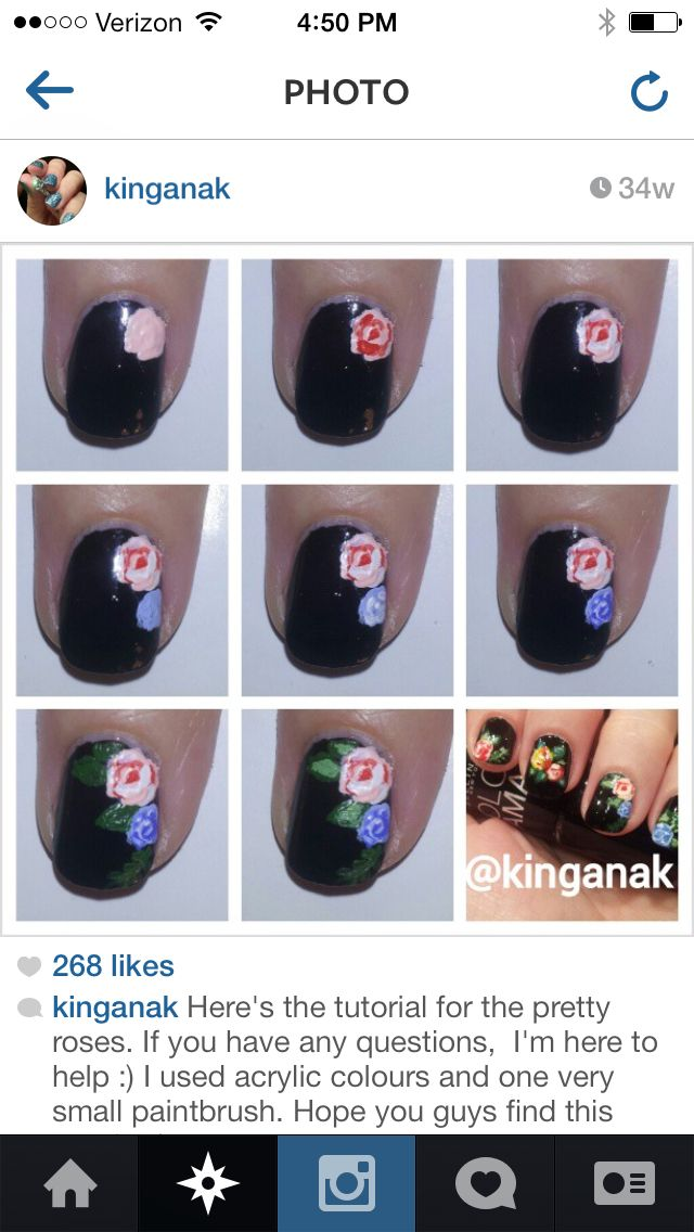 Rose nail tutorial