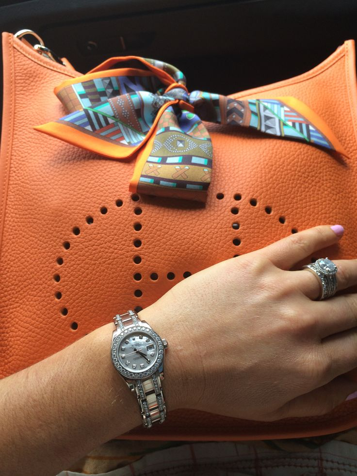 Hermes Orange Evelyn Messenger Orange H Belt