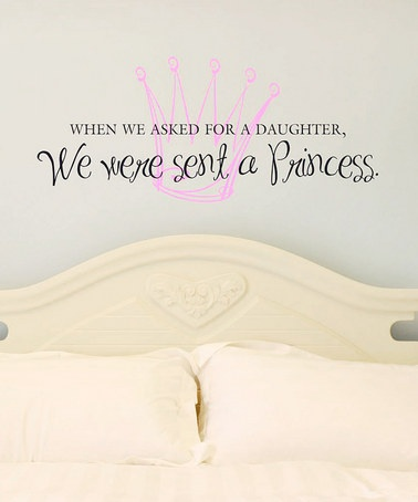 future little girls room: It A Girls, Beds Rooms, Future Daughters, Princesses Rooms, Wall Quotes, Baby Girls, Princesses Bedrooms, Girls Rooms, Little Princesses