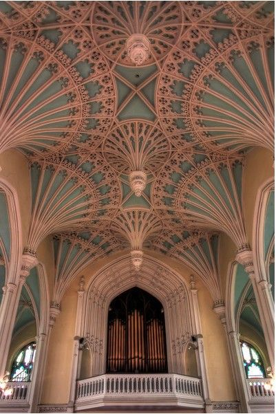 19th Century Gothic Revival in the Perpendicular Idiom. Beautiful Ceiling features