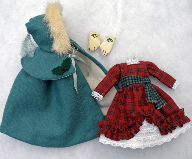 A Victorian Caroler Outfit for Hitty by Islecroft | eBay