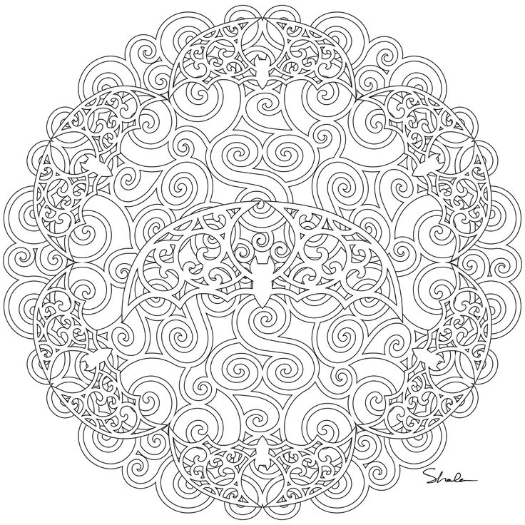 Adult coloring book with quotes - Don T Eat The Paste Bats Swirl Mandala Coloring Pages Pinterest