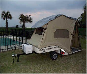 Tent Trailers Motorcycle Tent Trailer And Motorcycles On