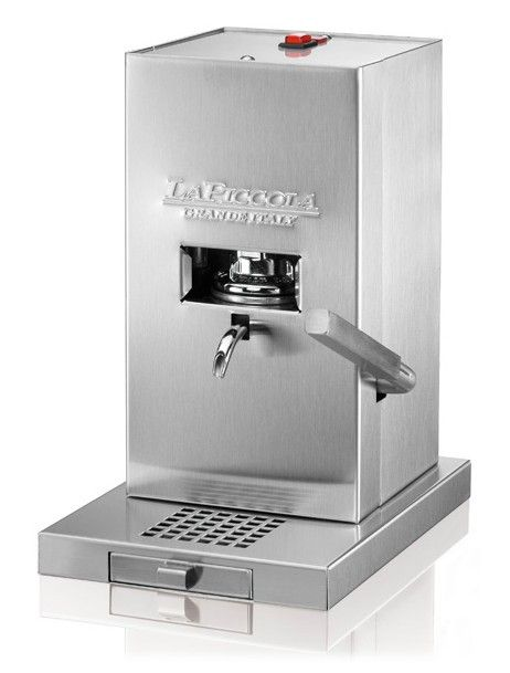 Piccola Coffee Espresso machine - Piccola Currently the quality espresso machine with the smallest footprint on the market. Ideal to take with you when travelling (camper, boat etc.). Instead of a drip-tray it has a trough under the grille which is easy to clean by simply wiping it with a sponge.