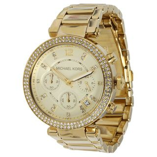 Michael Kors Women's MK5354 'Parker' Yellow Gold Stainless Steel Watch | Overstock.com Shopping - Big Discounts on Women's Michael Kors Watches