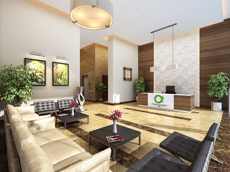 Step into an oasis from nature's basket. Grand Lobby with an eco-wall at Ahuja O2 Sion