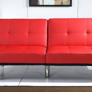 red leather sofa sleeper