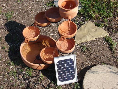 Small Water Garden Needs No Electricity Just Place Pots: Pond Ideas, Water Gardens