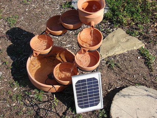 diy solar powered water fountain diy pond ideas water gardens. Black Bedroom Furniture Sets. Home Design Ideas