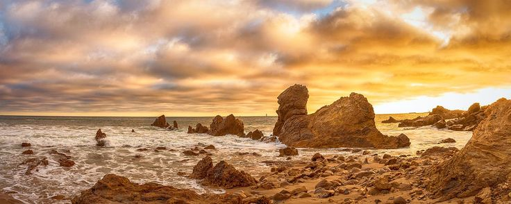 Photograph Stormy Sunset in Corona Del Mar by Nazeem S on 500px