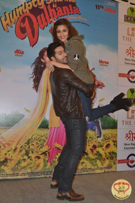 The lead pair of Humpty Sharma Ki Dulhania, Varun Dhawan and Alia Bhatt was in the city to promote their upcoming Bollywood film. The film has been directed by debutant Shashank Khaitan and produced by Karan Johar. : http://sholoanabangaliana.in/blog/2014/07/01/alia-bhatt-and-varun-dhawan-visit-kolkata-to-promote-upcoming-film-humpty-sharma-ki-dulhania/#ixzz36yt8ri4U