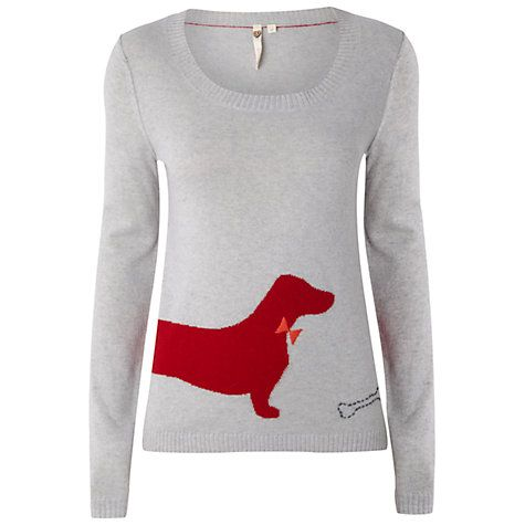 Dachshund sweater's a little sack o' sugar.