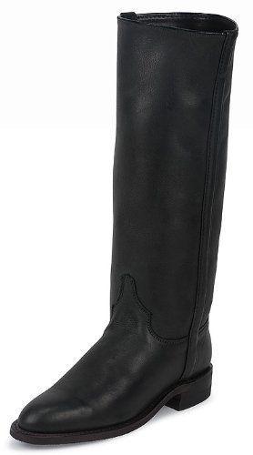 Justin Women's BLACK DEERTAN Boots: JL3852 Justin Boots. $157.95