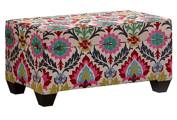 Colorful Storage Ottomans Google Search Dot And Bo Upholstered Storage Bench Storage Bench