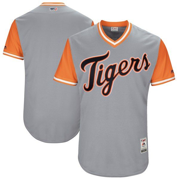 defa21b33 Men s Detroit Tigers Majestic Gray 2017 Players Weekend Authentic Team  Jersey