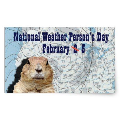 National Weather Persons Day February 5 Rectangular Sticker - craft supplies diy custom design supply special