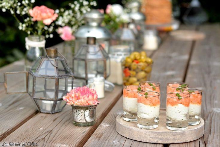 buffet mariage champêtre