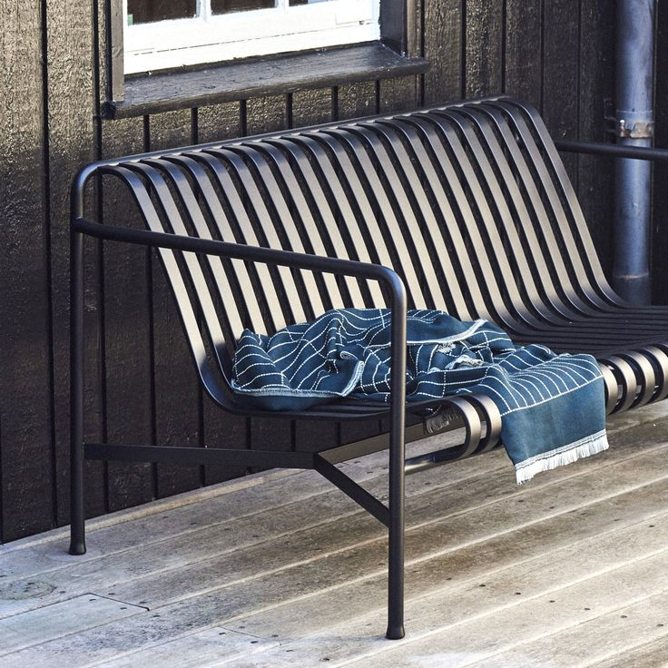 Palissade bench and Checked Out plaid