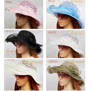 WOMENS FASHION RACES HATS LADIES SUN WIDE BIRM HAT KENTUCKY DERBY WEDDING HAT