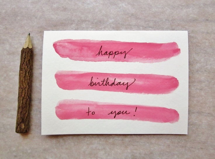 The 30 best images about calligraphy on pinterest typography diy happy birthday watercolor card bookmarktalkfo Gallery