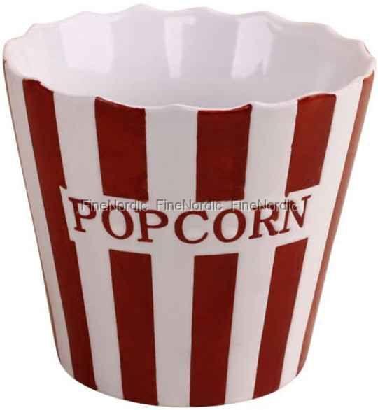 Krasilnikoff Popcorn Kopp i Porselen - Stripe Pris 199,-