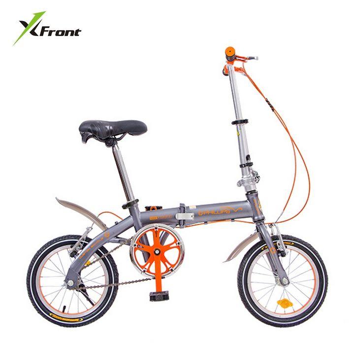 (253.37$)  Watch now  - New Brand 14 inch Single/6 speed carbon steel V/Disc brake folding bike lady children bicicletas MBX  bicycle