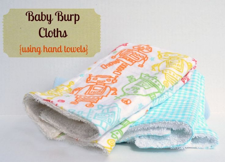 Baby Burp Cloths (Using Hand Towels) - It Happens in a Blink