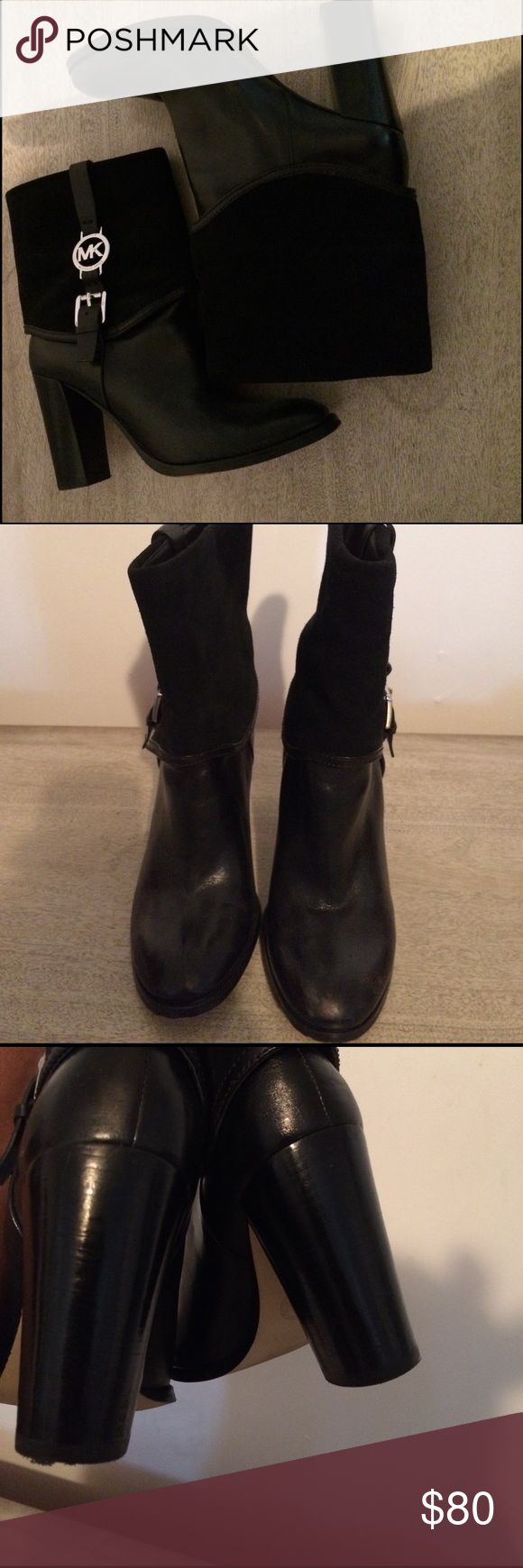 Mk boots Good condition little scuff on right foot in the front not extremely noticeable heels are still in tact MICHAEL Michael Kors Shoes Heeled Boots