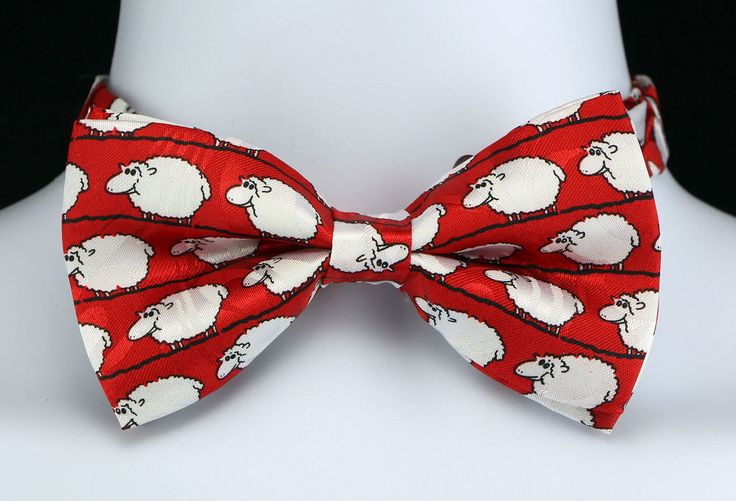 Counting Sheep Mens Bow Tie Adjustable Wedding Funny Animal Gift Him Tie New  #TiesJustForYou #BowTie