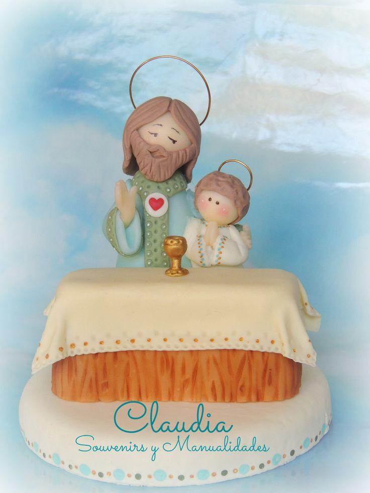 Adorno para torta de comunión .-