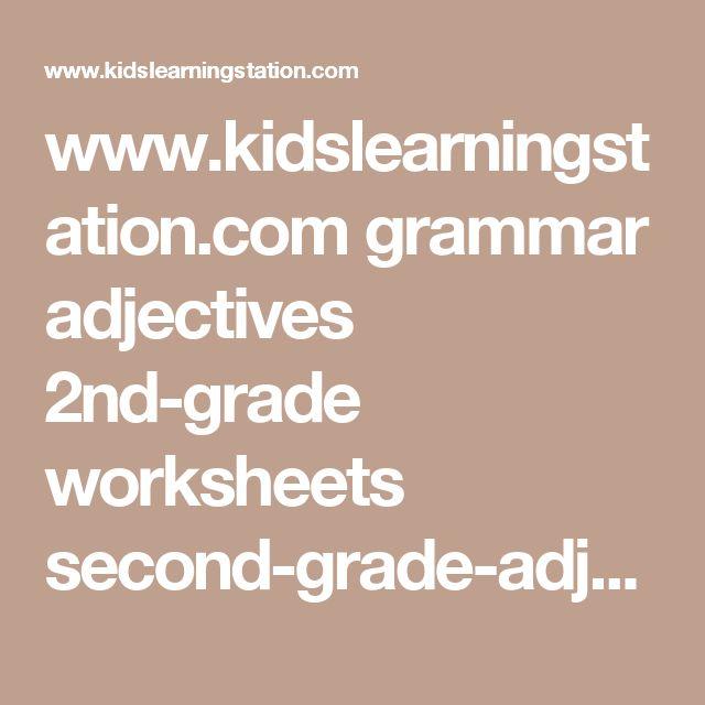Best 25 Adjective Worksheet Ideas On Pinterest