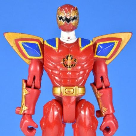 Red Ranger Power Rangers Dino Thunder 2003 Spike Armored Triassic Ranger No accessories Approximately 5.75 inches tall