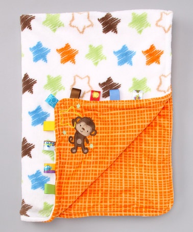 Take a look at this Lime & Orange Monkey Star Stroller Blanket by Taggies on #zulily today!